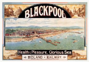 Vintage travel poster - Blackpool coast